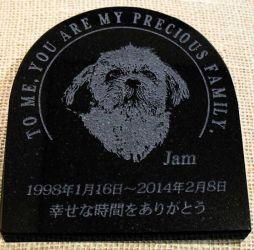 Jamの石彫エンブレム